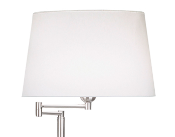 Leds C4 Dover Adjustable Arm Floor Lamp, Satin Nickel Finish, Base Only - 176-NS