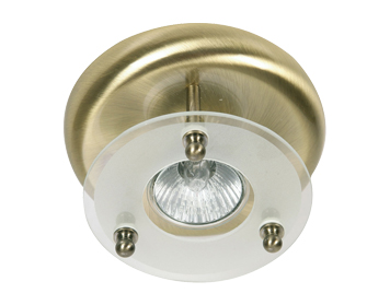 Oaks Lighting Surface Downlight, Antique Brass Finish - 177/1 AB