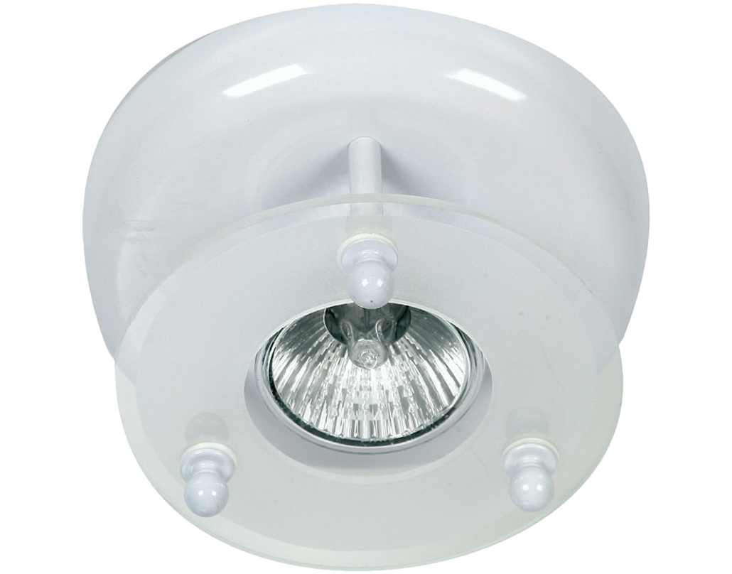 Oaks Lighting Surface Downlight, White Finish - 177/1 WH