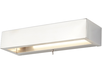 Searchlight 1 Light Switched Wall Light, Chrome Finish With Frosted Glass Diffuser - 1781CC