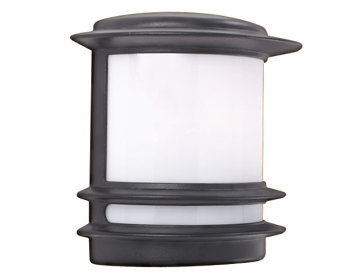 Searchlight Stroud 1 Light Outdoor Flush Wall Light, Black Finish - 1812