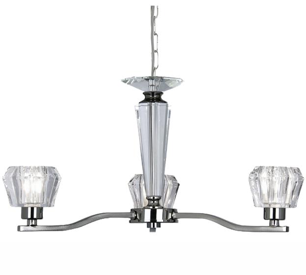 oaks lighting  u0026 39 vita u0026 39  3 light crystal cut glass ceiling