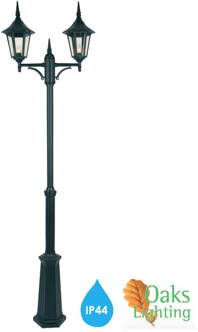 Oaks Lighting \'Cardinal\' IP44 2 Light Exterior Lamp Post Lantern ...