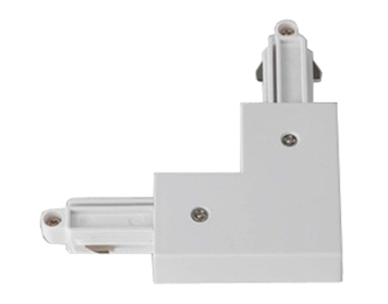 Astro Track 90° Left Corner Connector, White Finish - 1993