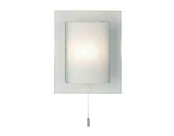 Endon Cabot 1 Light Switched Wall Bracket, Clear & Frosted Glass Finish - 2011-WB