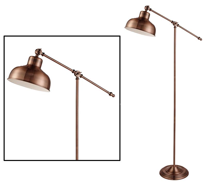 Searchlight macbeth 1 light adjustable floor lamp antique copper searchlight macbeth 1 light adjustable floor lamp antique copper finish 2028cu aloadofball Image collections