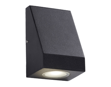 ab569f3d0b83 Searchlight 1 Light Outdoor LED Wall Light, Black Finish With Frosted Glass  - 2041-