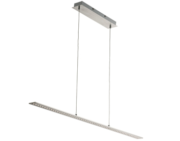 pendant lighting bar. searchlight led straight bar ceiling pendant light satin silver with clear glass 2065ss lighting