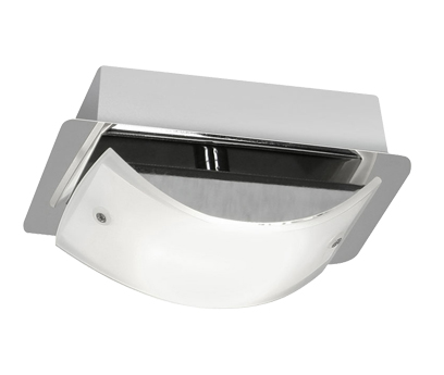 Oaks Lighting Torva 1 Light LED Ceiling Light, Chrome & Glass - 2077/1 CH