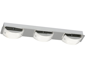 Oaks Lighting Torva 3 Light LED Ceiling Light, Chrome & Glass - 2077/3 CH
