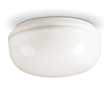 Firstlight Finelite Flush Fitting, White Polycarbonate Finish With Opal Diffuser - 2092WH