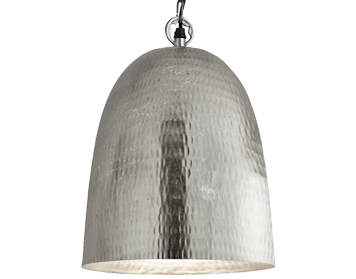 Contemporary pendant lights from easy lighting searchlight bell beaten ceiling pendant 250mm satin silver 2093 26ss aloadofball Images