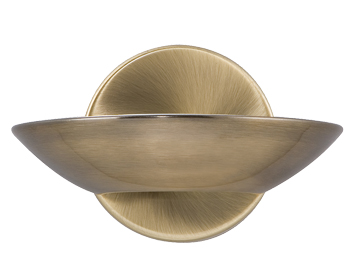 Searchlight Metal Halogen Wall Light, Antique Brass - 2107AB