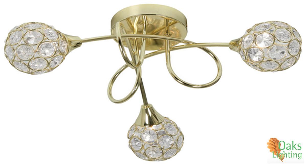 Oaks lighting lana 3 light semi flush ceiling light polished oaks lighting lana 3 light semi flush ceiling light polished brass 21843 pb mozeypictures Images