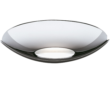 Searchlight 1 Light LED Uplight Wall Light, Chrome Finish With Frosted Glass - 2209CC