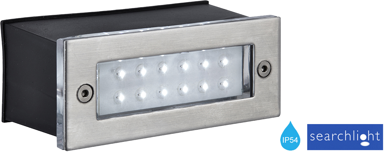 SEARCHLIGHT LED IP54 RECESSED BRICK LIGHT STAINLESS STEEL 2265SS From Easy
