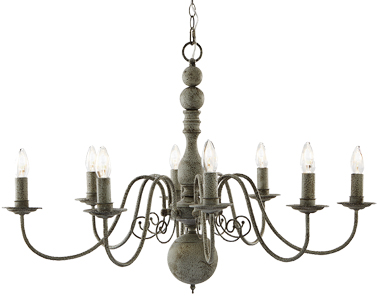 Searchlight Greythorne 8 Light Ceiling Light, Textured Grey Finish - 2268-8GY