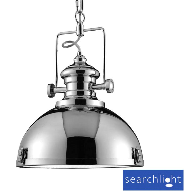 Uk Light Industrial Portfolio: Searchlight Industrial Look Metal Pendant Ceiling Light