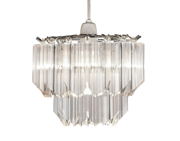 Oaks Lighting Acrylic Non-Electric Ceiling Pendant, Clear Acrylic Finish - 229 NE