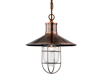 Firstlight Crescent 1 Light Pendant, Antique Copper Finish - 2306AC