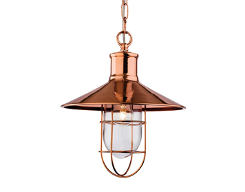 Firstlight Crescent 1 Light Pendant, Copper Finish - 2306CP