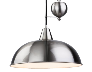 Firstlight Century Rise & Fall Pendant, Brushed Steel Finish - 2309BS