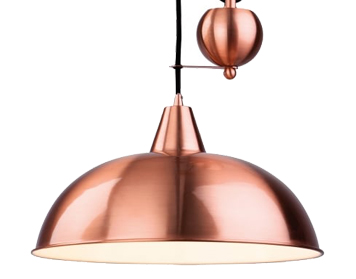 Firstlight Century Rise & Fall Pendant, Brushed Copper Finish - 2309CP