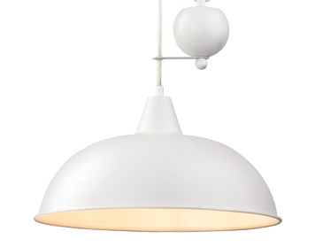 Firstlight Century Rise & Fall Pendant, White Finish - 2309WH