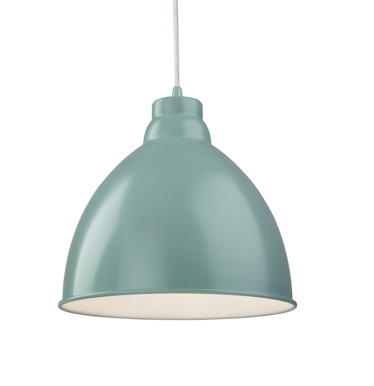 Firstlight u0027Unionu0027 1 Light Metal Pendant Ceiling Light, Pale Blue - 2311PB