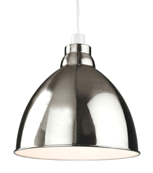 Firstlight u0027Union Easy-Fit Non-Electricu0027 1 Light Pendant Light, Brushed