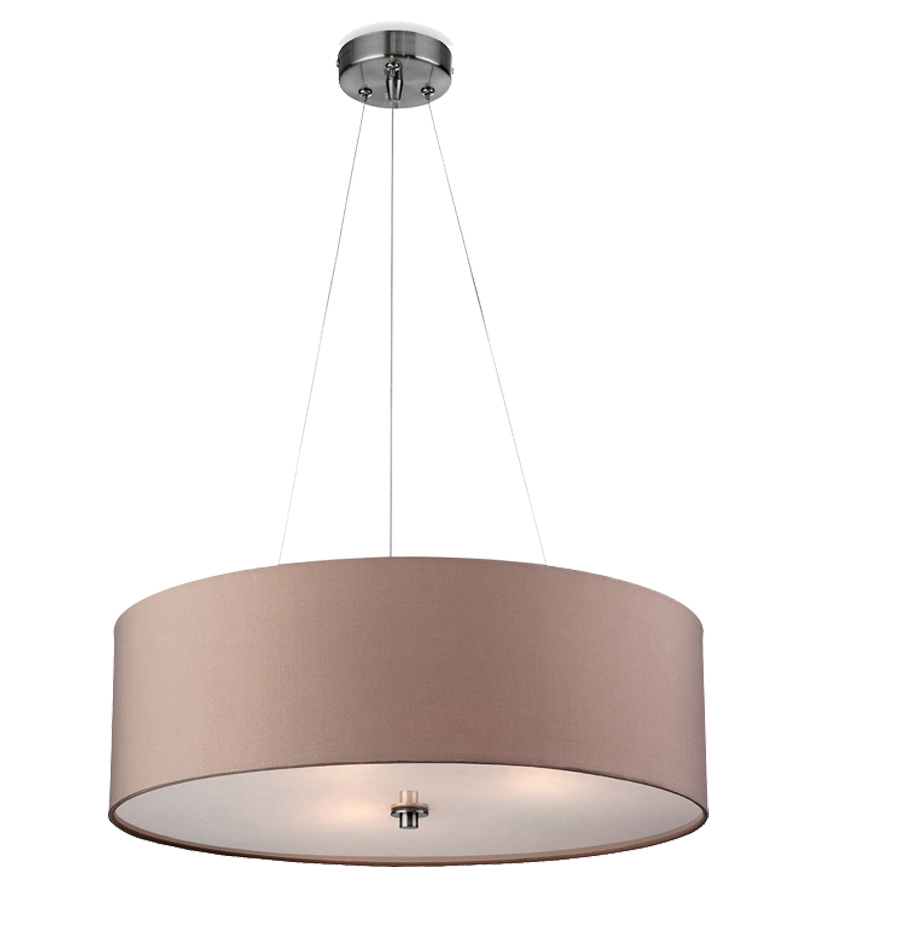 Fabric pendant lights from easy lighting firstlight phoenix fabric pendant ceiling light taupe 2314ta mozeypictures Choice Image