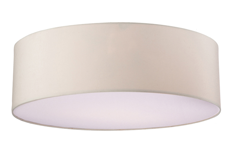 Firstlight u0027Phoenixu0027 Round Flush Ceiling Light Fixture, Cream - 2315CR
