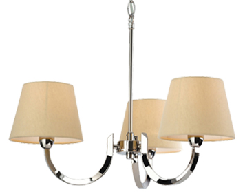 Firstlight Fairmont 3 Light Ceiling Light, Polished Stainless Steel - 2321PST