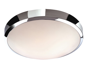 Firstlight Toro Flush Fitting LED Ceiling Light, Chrome Finish With White Polycarbonate Diffuser - 2343CH