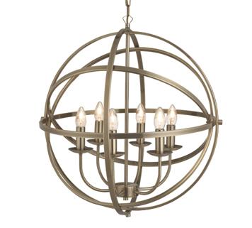 Searchlight u0027Orbitu0027 6 Light Spherical Ceiling Pendant Light Antique Brass - 2476-  sc 1 st  Easy Lighting & Searchlight u0027Orbitu0027 4 Light Spherical Ceiling Pendant Light Matt ... azcodes.com