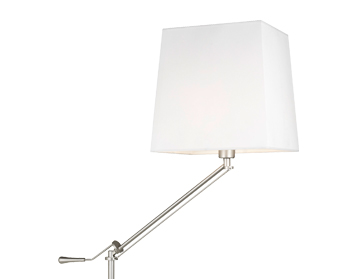 Leds C4 Milan Adjustable Arm Floor Lamp, Satin Nickel Finish, Base Only - 25-1568-81-82