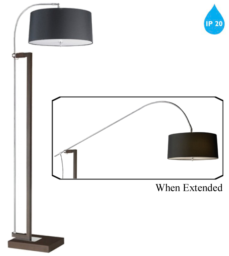 Leds C4 39 Xtend 39 IP20 3 Light Switched Dimmable Arc Floor Lamp