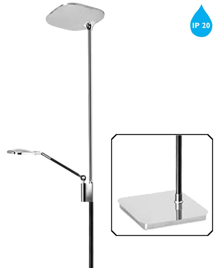 Leds c4 39queen39 ip20 led touch dimmer mother child floor for Chrome floor lamp dimmer