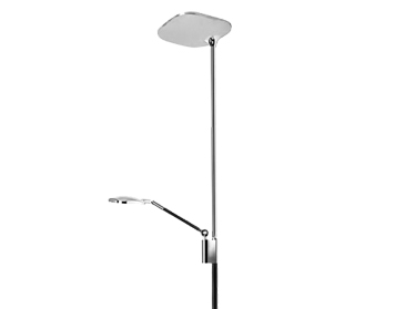 Leds C4 Queen LED Touch Dimmer Mother & Child Floor Lamp, Black & Chrome Finish - 25-4760-21-05