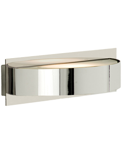 Searchlight Curved Halogen Wall Light, Polished Chrome Finish - 2692CC