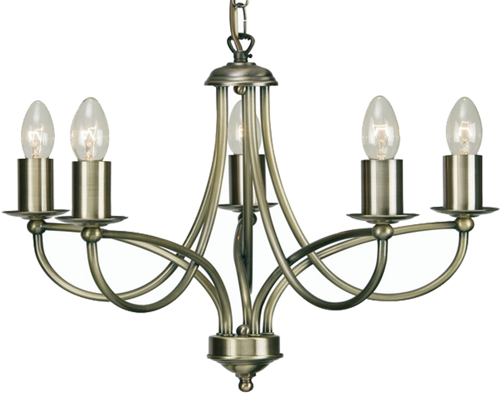Ceiling lights 4 and 5 arm from easy lighting oaks lighting loop 5 light ceiling light antique brass 27115 aloadofball Gallery