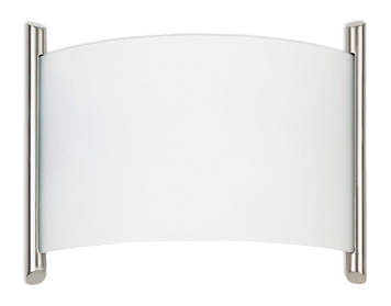 Leds C4 Niza 2 Light Wall Light, Satin Nickel/Glass Finish - 274-NS