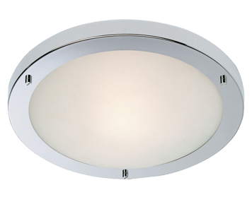 Firstlight Rondo Flush Fitting Ceiling Light, Chrome Finish With Opal Glass - 2740CH