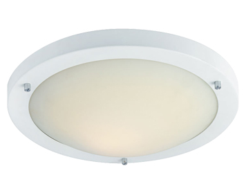 Firstlight Rondo Flush Fitting Ceiling Light, Matt White Finish With Opal Glass - 2740WH