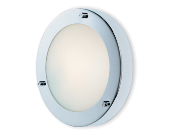 Firstlight Rondo Flush Fitting Ceiling/Wall Light, Chrome Finish With Opal Glass - 2745CH