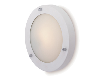 Firstlight Rondo Flush Fitting Ceiling/Wall Light, Matt White Finish With Opal Glass - 2745WH