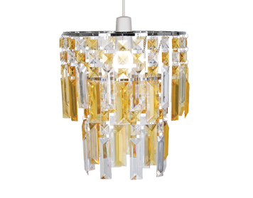 Oaks Lighting Maia Non-Electric Ceiling Pendant, Amber Finish - 2801 AM