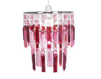Oaks Lighting Maia Non-Electric Ceiling Pendant, Ruby & Pink Finish - 2801 RP