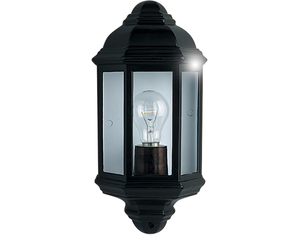 Outdoor flush wall lights from easy lighting searchlight ip44 outdoor half lantern black aluminium 280bk aloadofball Choice Image