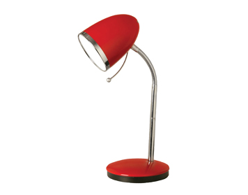 Oaks Lighting Madison Table Lamp, Red Finish - 2819 TL RD